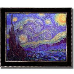 Vincent Van Gogh 'Starry Night' Large Framed Canvas Art