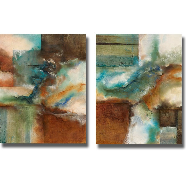 Norm Olson 'Rare Earth I and II' 2-piece Canvas Art Set