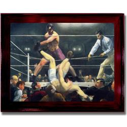 George Bellows 'Dempsey and Firpo' Framed Canvas Art
