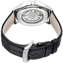 Baume & Mercier Men's 'Classima' Silver Dial Leather Strap Watch