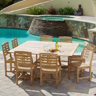 Christopher Knight Home Eureka Deluxe Eucalyptus Wood Dining 9-piece Set