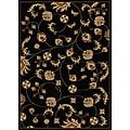 Amalfi Vines Black Area Rug (7'9 x 11')