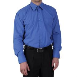 Boston Traveler Men's Point Collar Long Sleeve Dress Shirt