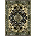 Caroline Medallion Navy Area Rug (7'9 x 11')
