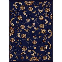 Amalfi Vines Navy Area Rug (5'5 x 7'7)