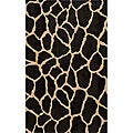 Power-loomed Giraffe Charcoal Wool Rug (9'6 x 13')