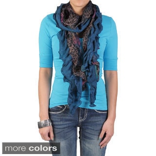 Hailey Jeans Co. Pretty Angel Women's Ruffle Detail Scarf