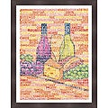 L.A. Pop Art 'Wine and Cheese Pairings' Framed Print Art