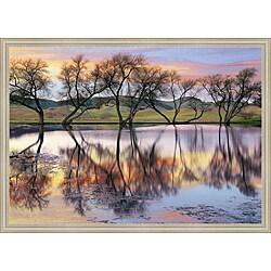 Loren Soderberg 'Lake Reflection' Framed Print Art