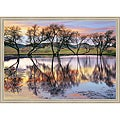 Loren Soderberg 'Lake Reflection' Framed Print Art