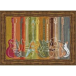 MJ Lew 'Guitar Heritage' Framed Print Art