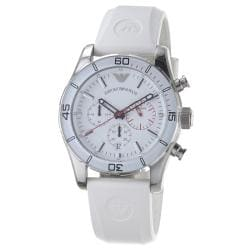 Emporio Armani Men's 'Sport' White Dial Quartz Chronograph Watch