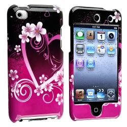 BasAcc Purple Heart Snap-on Case for Apple iPod Touch 4th Generation