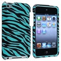 BasAcc Blue/ Black Zebra Case for Apple iPod Touch 4th Generation