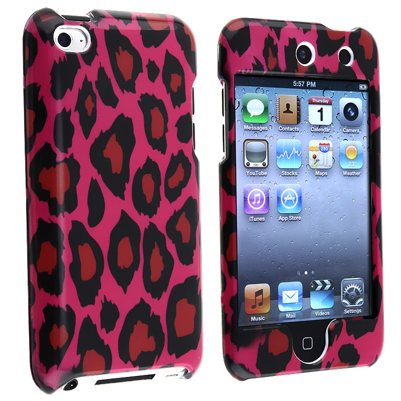 INSTEN Hot Pink Leopard iPod Case Cover for Apple iPod Touch 4th Generation