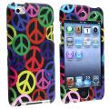 BasAcc Black/ Rainbow Peace Case for Apple iPod Touch 4th Generation