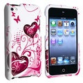 BasAcc White/ Pink Heart Case for Apple iPod Touch 4th Generation