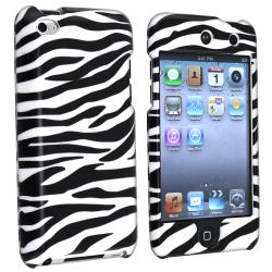BasAcc White/ Black Zebra Case for Apple iPod Touch 4th Generation