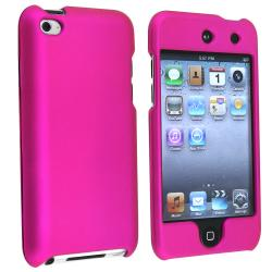 BasAcc Hot Pink Rubber Coated Case for Apple iPod Touch 4th Generation