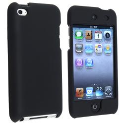 INSTEN Black Rubber Coated iPod Case Cover for Apple iPod Touch 4th Generation
