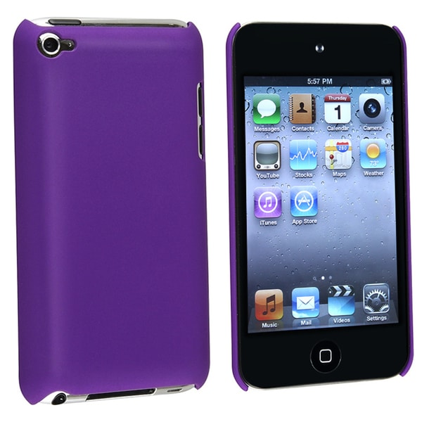 BasAcc Dark Purple Snap-on Case for Apple iPod Touch 4th Generation