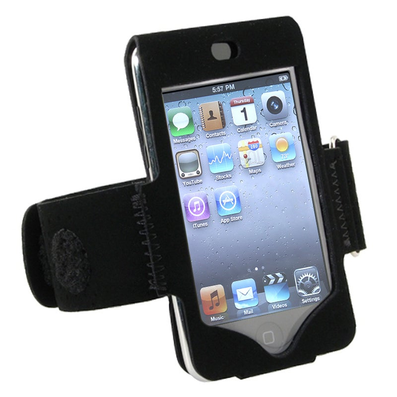 BasAcc Black Suede Armband for Apple iPod Touch 2nd/ 3rd Generation