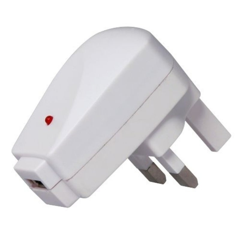 INSTEN White UK USB Travel Charger Adapter for Apple iPod