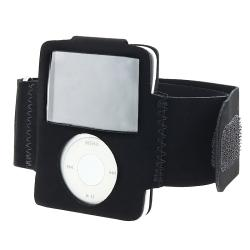 BasAcc Black Velvet Armband for Apple iPod Nano 3rd Generation