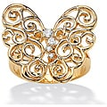 Ultimate CZ Goldplated Cubic Zirconia Butterfly Ring