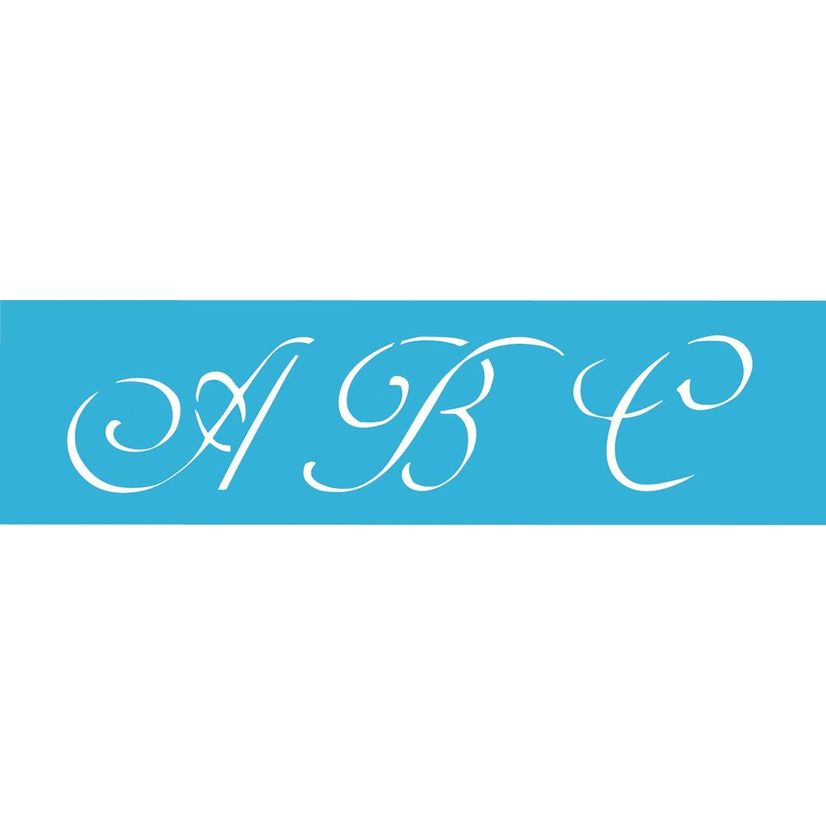 Monogram Alphabet Stencil
