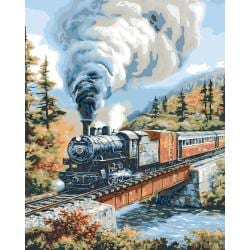 Plaid 'Steam Locomotives' Paint-by-Number Kit (16x20)