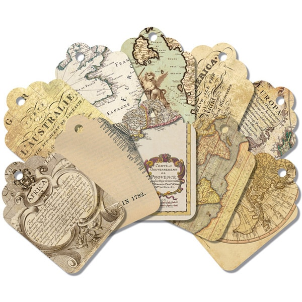 7 Gypsies Global Art Tags (Pack of 20)