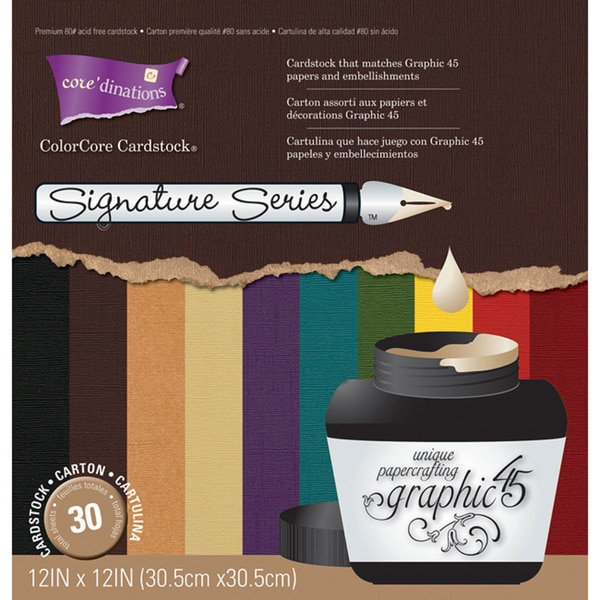 Graphic 45 Signature Series Cardstock Assortment (12 x 12)