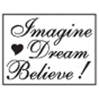 Decorative 'Imagine, Dream, Believe' with Purple Wax Resin Seal