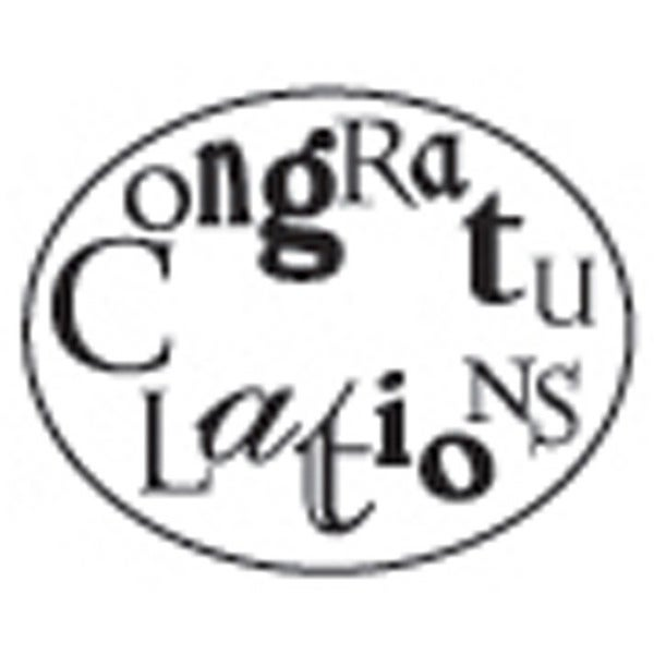 Decorative 'Congratulations' with Purple Wax Resin Seal