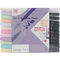 Zig Art & Graphic Pastel Twin Markers (Set of 12)