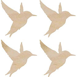 Kaisercraft Hummingbirdsd Wood Flourishes (Pack of 4)