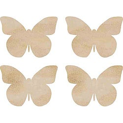 Kaisercraft Butterflies Wood Flourishes (Pack of 4)
