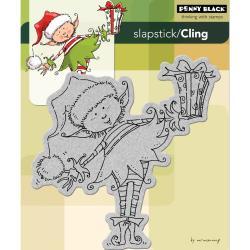 Penny Black 'Little Elf Present' Cling Rubber Stamp