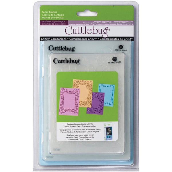 Cuttlebug Cricut Companion Fancy Frames Embossing Folders (Pack of 4)