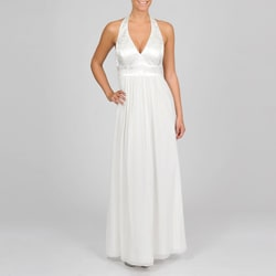Oleg Cassini Women's Beaded Halter Dress