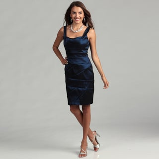Scarlett Women's Cobalt Pleated Bodice Dress