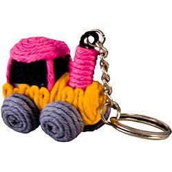Train Yarn Keychain (Colombia)