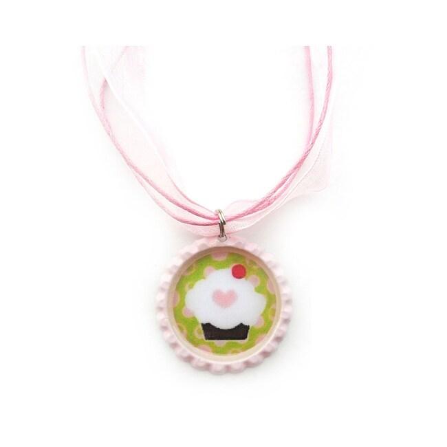 Cupcake Bottle Cap Necklace