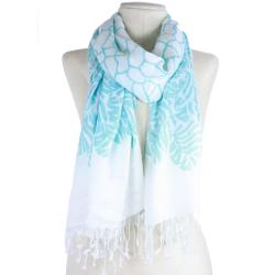Handmade Light-weight Foliage Scarf (India)