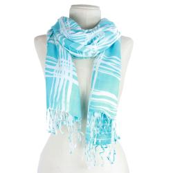 Handmade Checkered Pattern Rayon Scarf (India)