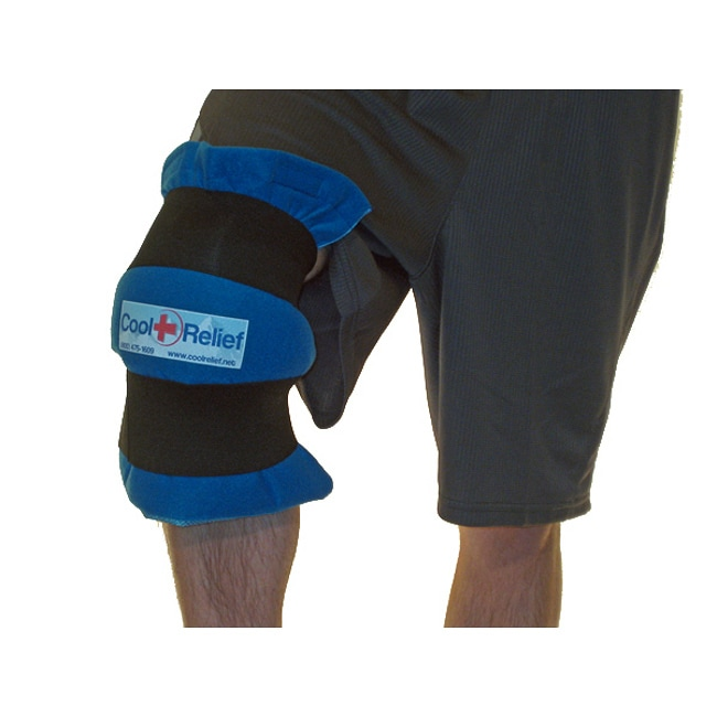 Cool Relief Soft Gel Knee Ice Wrap w/ Removable Insert