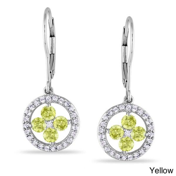Miadora 10k White Gold 1ct TDW Diamond Earrings (H-I, I1-I2)