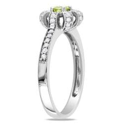 Miadora 14k White Gold 1/2ct TDW Yellow and White Diamond Ring (H-I, I1-I2)