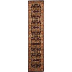 Safavieh Handmade Tree Dark Red/ Rust Hand-spun Wool Rug (2'3 x 10')